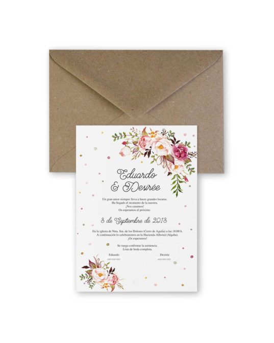 Invitación de boda Bouquet