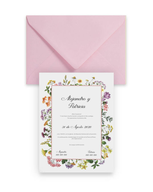 Invitación de boda Sublime