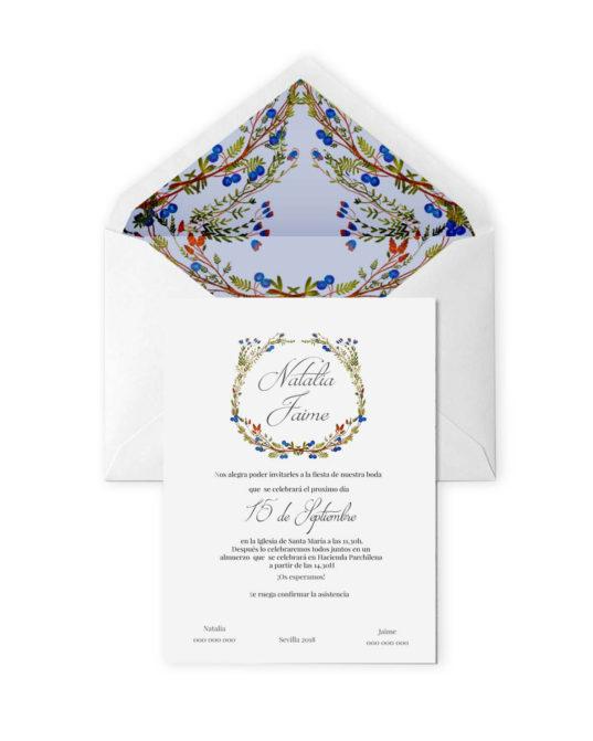 Invitación de boda Sevilla
