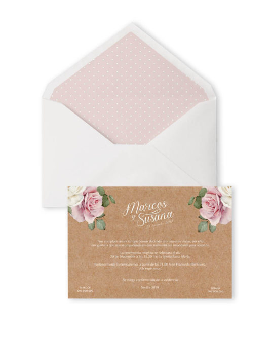 Invitación de boda Romantic