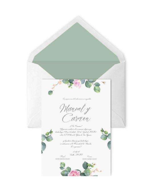 Invitación de boda Rosal