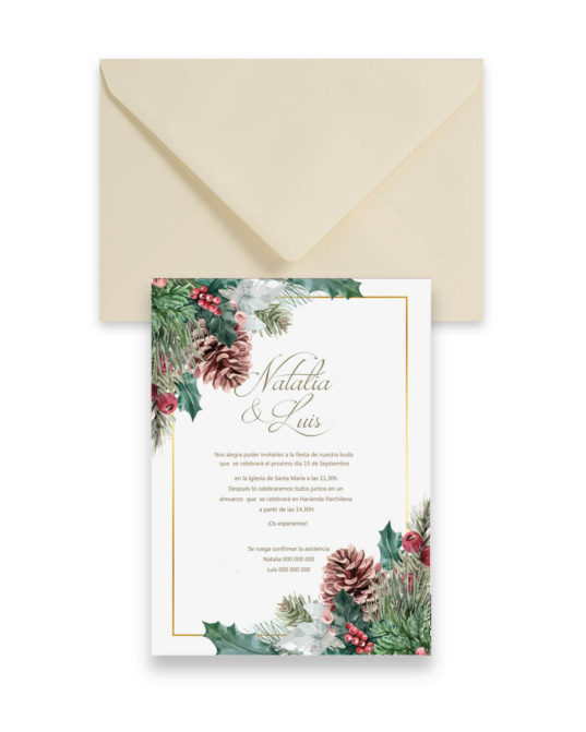 Invitación de boda Winter